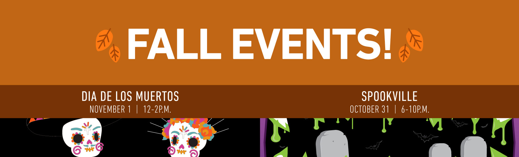 Fall Events banner
