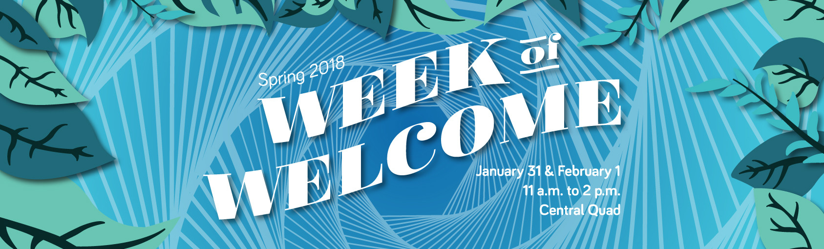 Week of Welcome 2018 banner