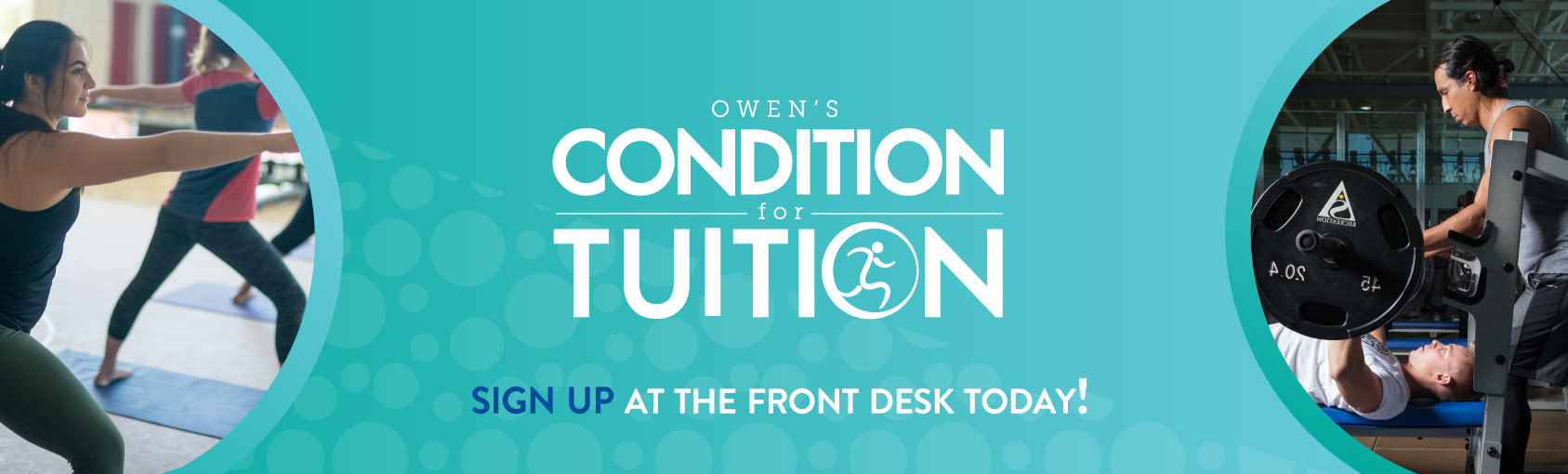 Sign-up for the Owen's Challenge Now Banner