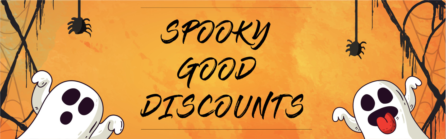 SPOOKY GOOD DISCOUNTS AT INFO & TICKET CENTER Bannner