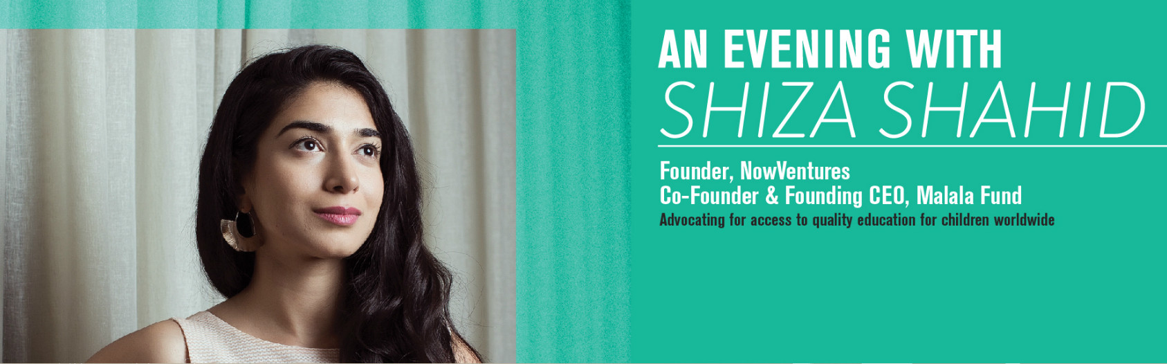 An Evening With: Shiza Shahid banner