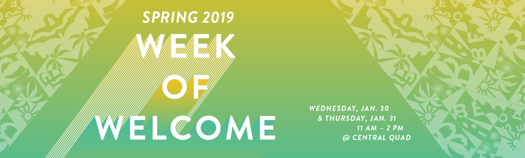 Week of Welcome Spring 2019 Banner