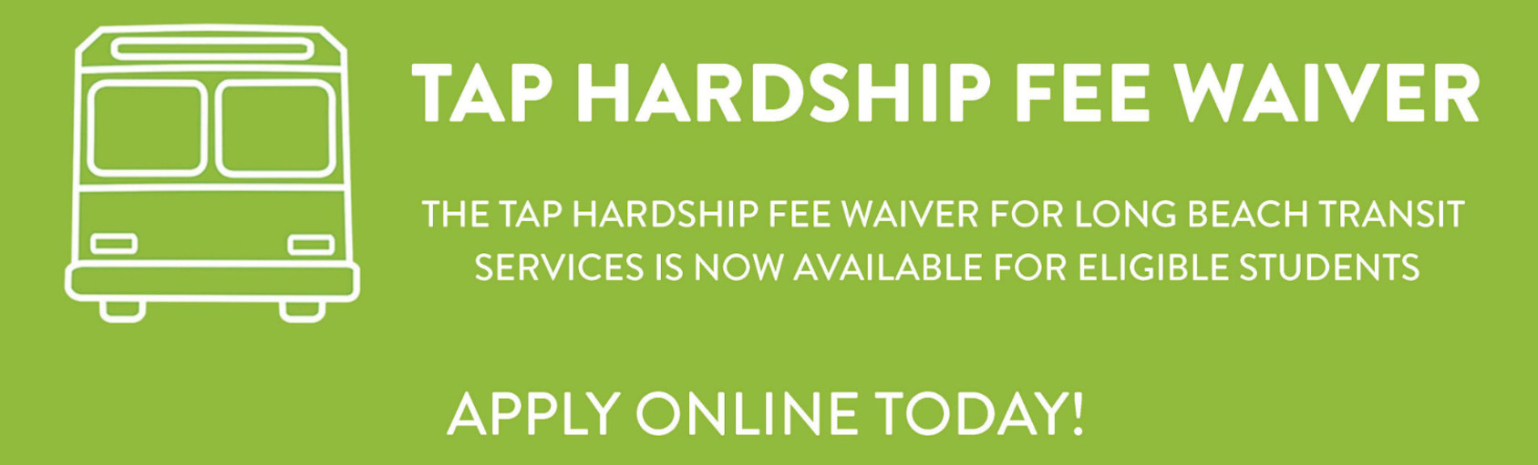 TAP Hardship Fee Waiver banner