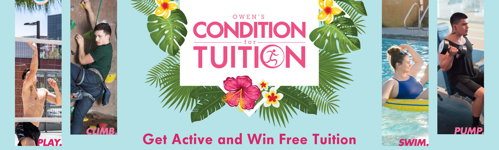 Get Active and Win Free Tuition Banner