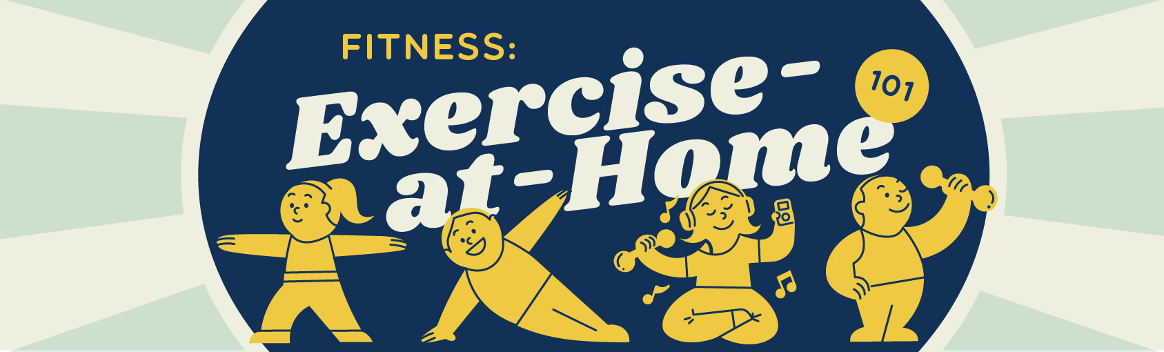 Fitness: Exercise-At-Home 101 banner