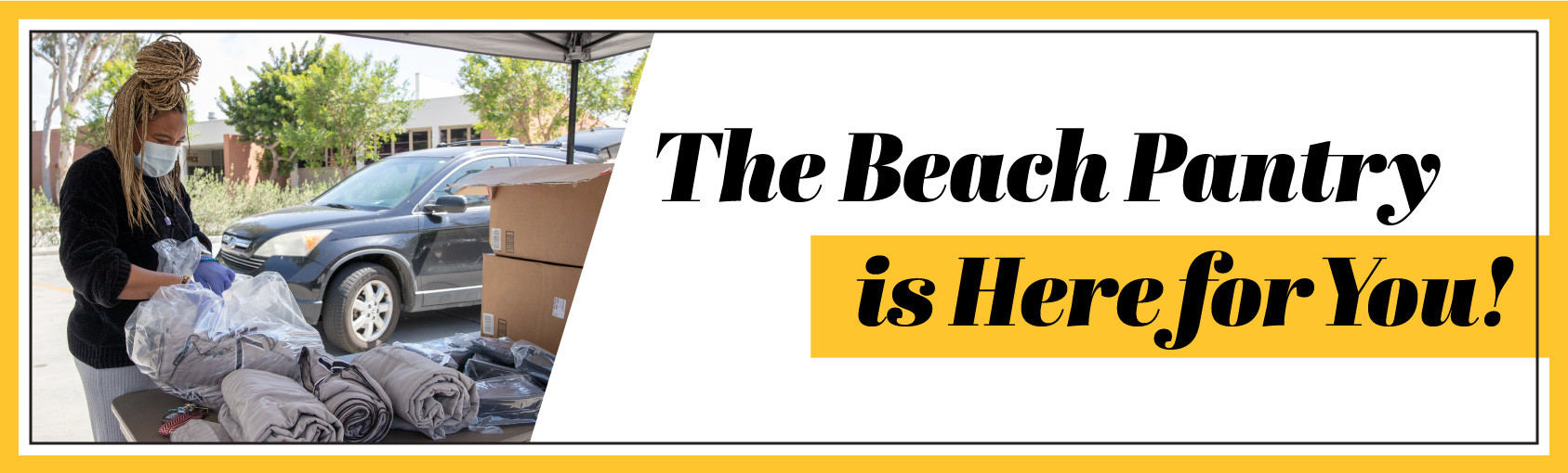 The Beach Pantry is Here for You! banner