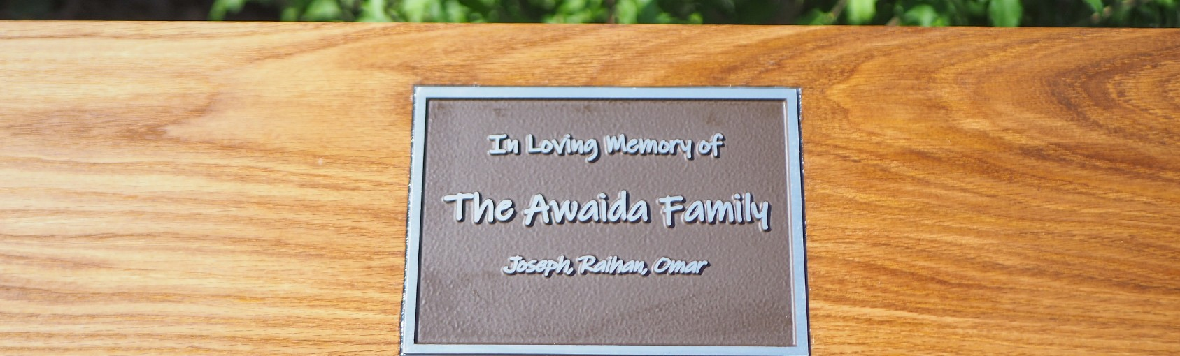 Remembering the Awaida Family - Benches at the IPCDC in Memoriam