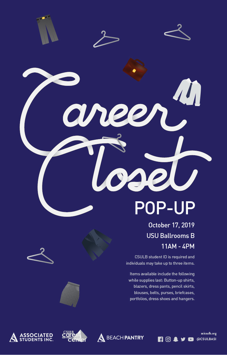 Career closet pop up poster