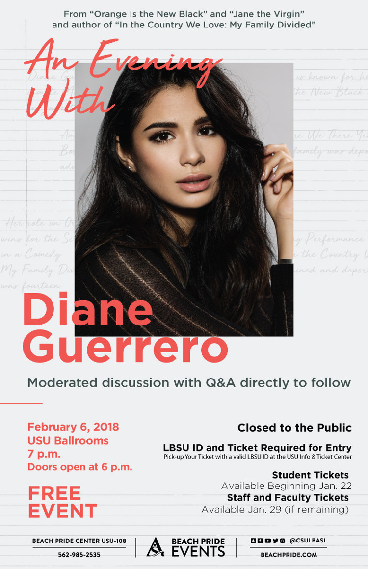 An Evening With Diane Guerrero poster