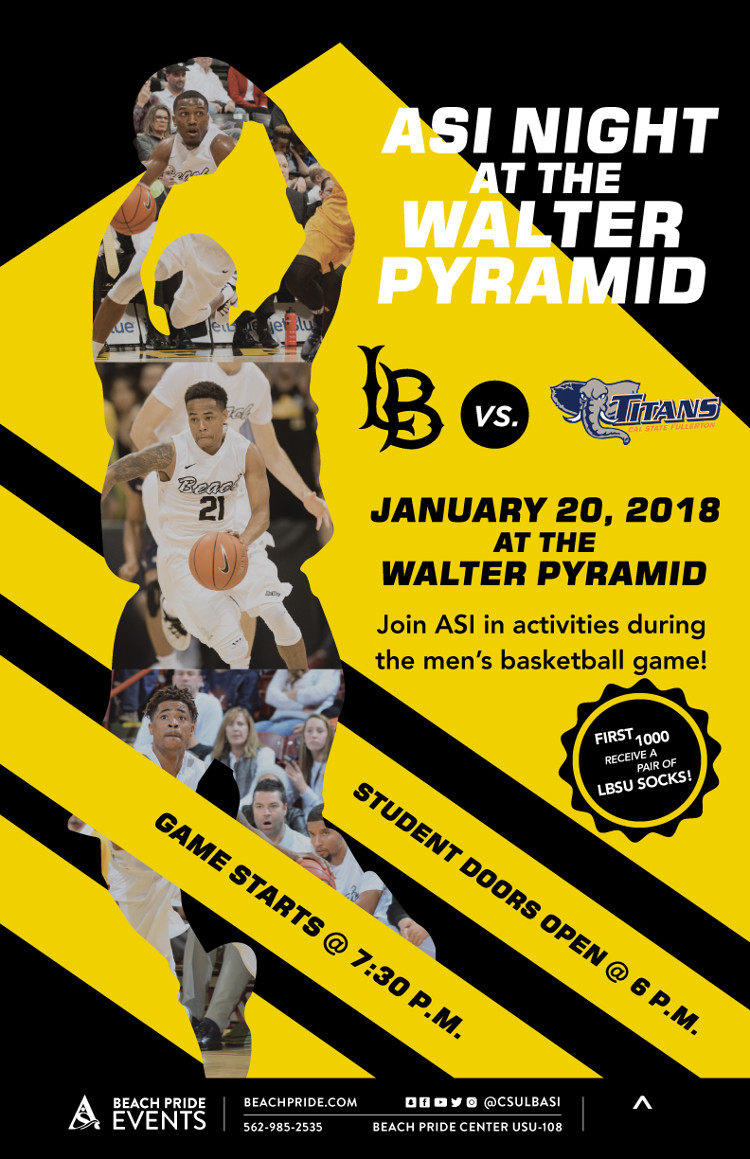 ASI Night at the Walter Pyramid poster