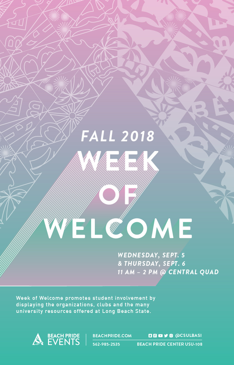 Week of Welcome Fall 2018 poster
