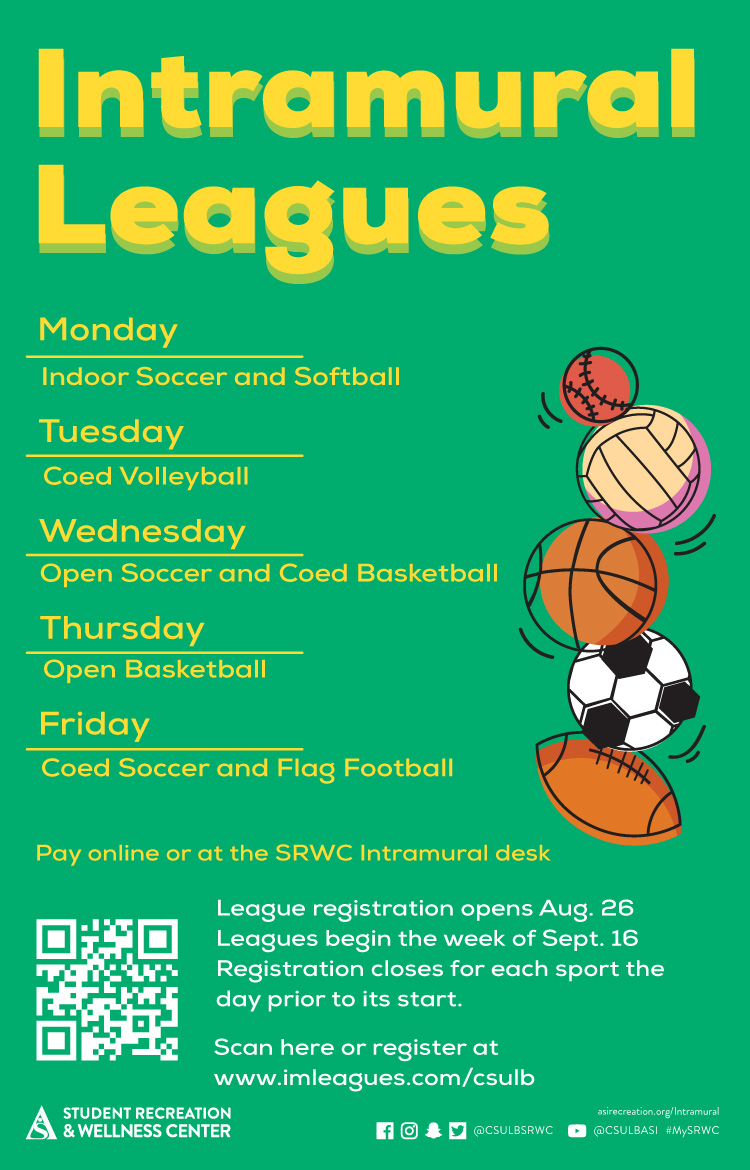 intramural leagues poster