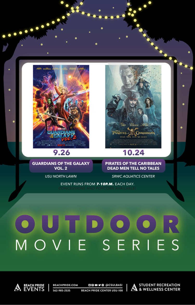 Outdoor movie series poster
