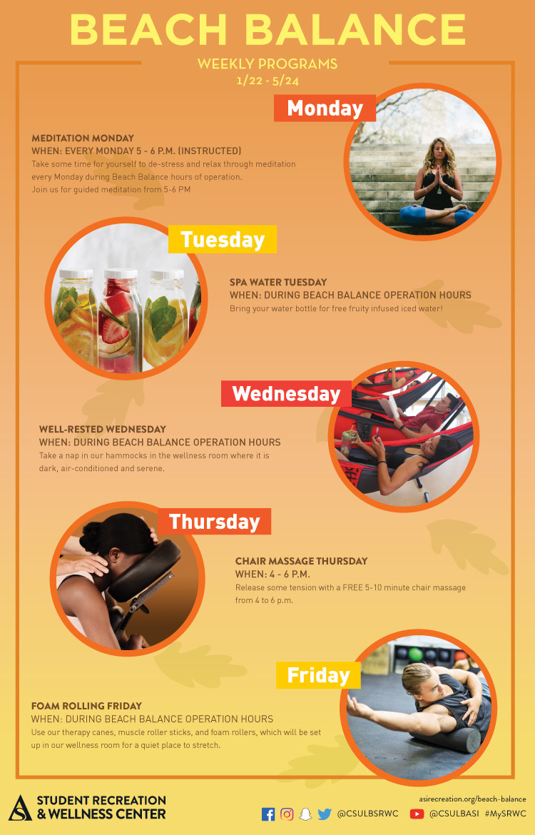 beach balance weekly events poster