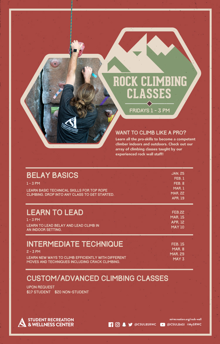 climbing classes poster