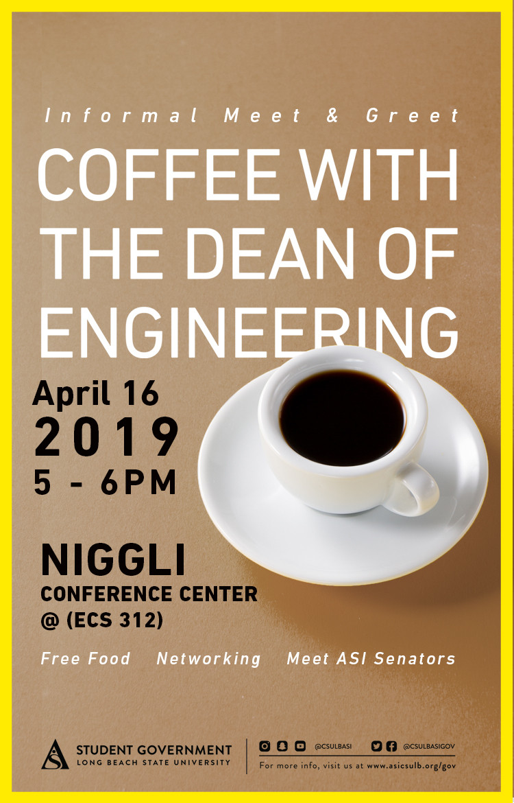 coffee with dean april poster