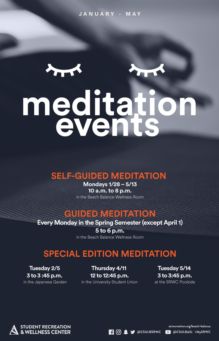 meditation events poster