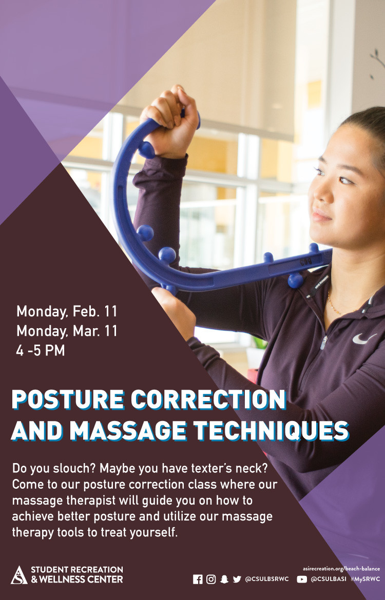 posture correction poster