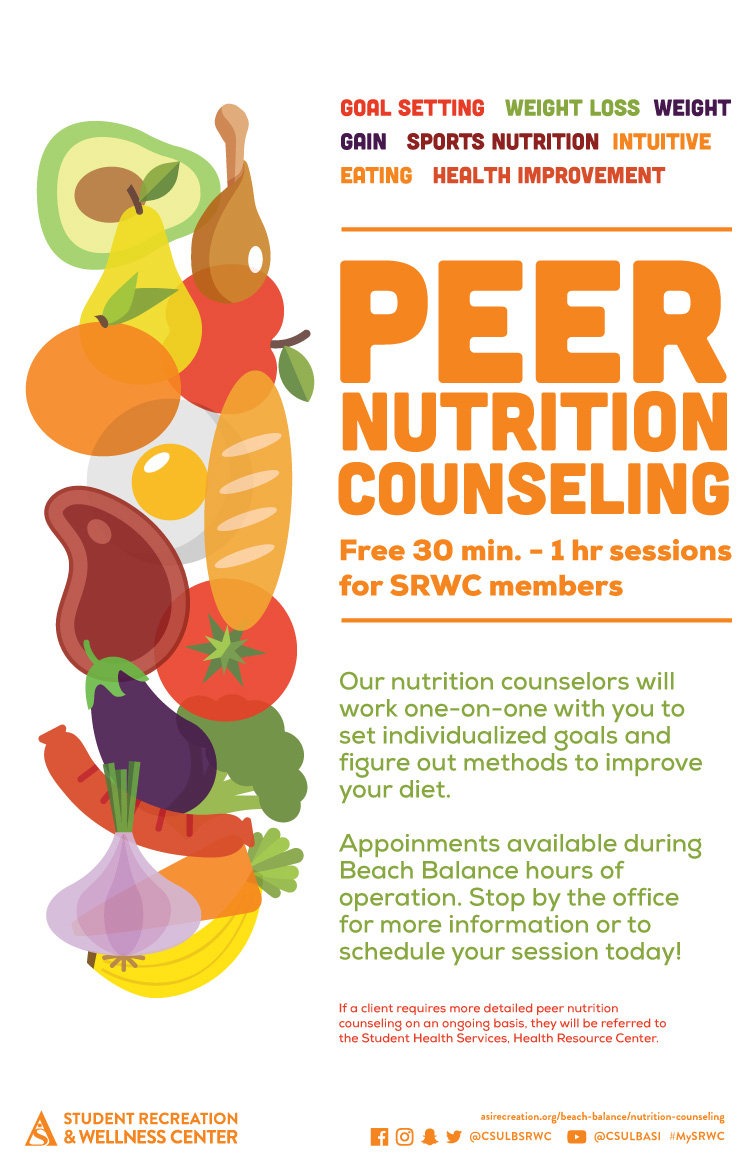 peer nutrition counseling poster