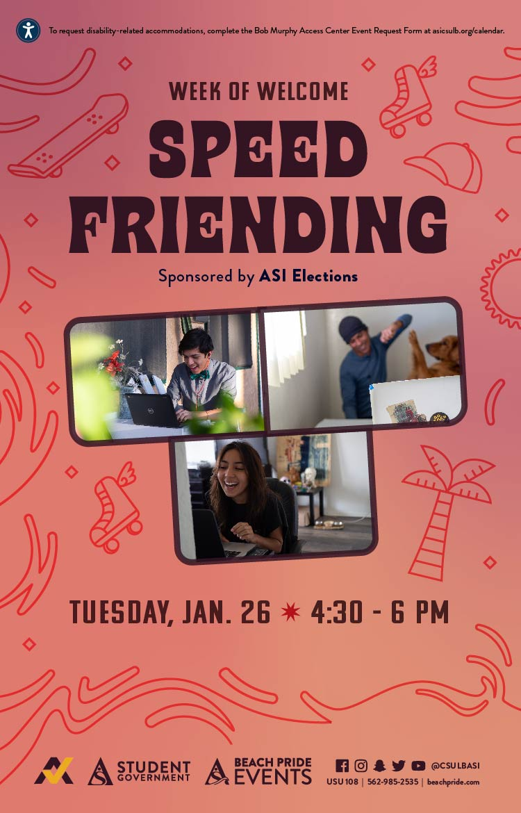 WOW Speed Friending Poster