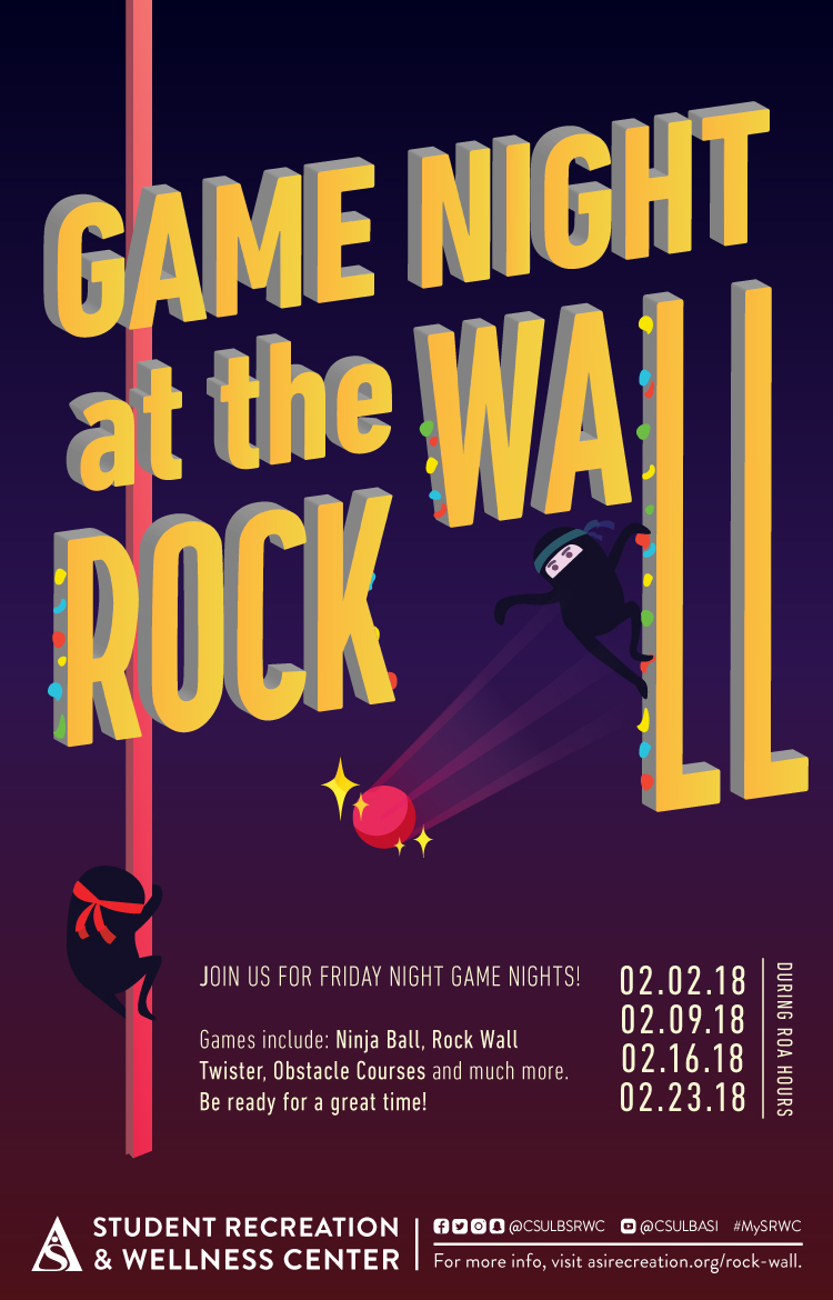 Game Night at the Rock Wall poster