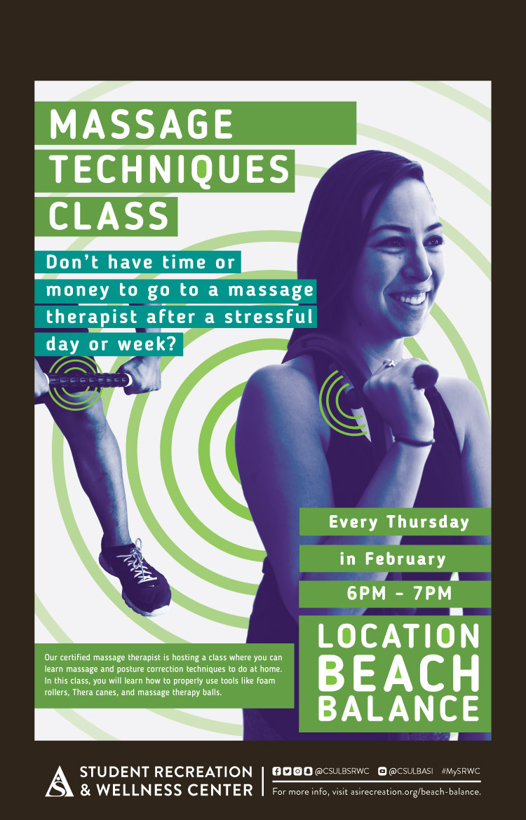 Massage Techniques class poster