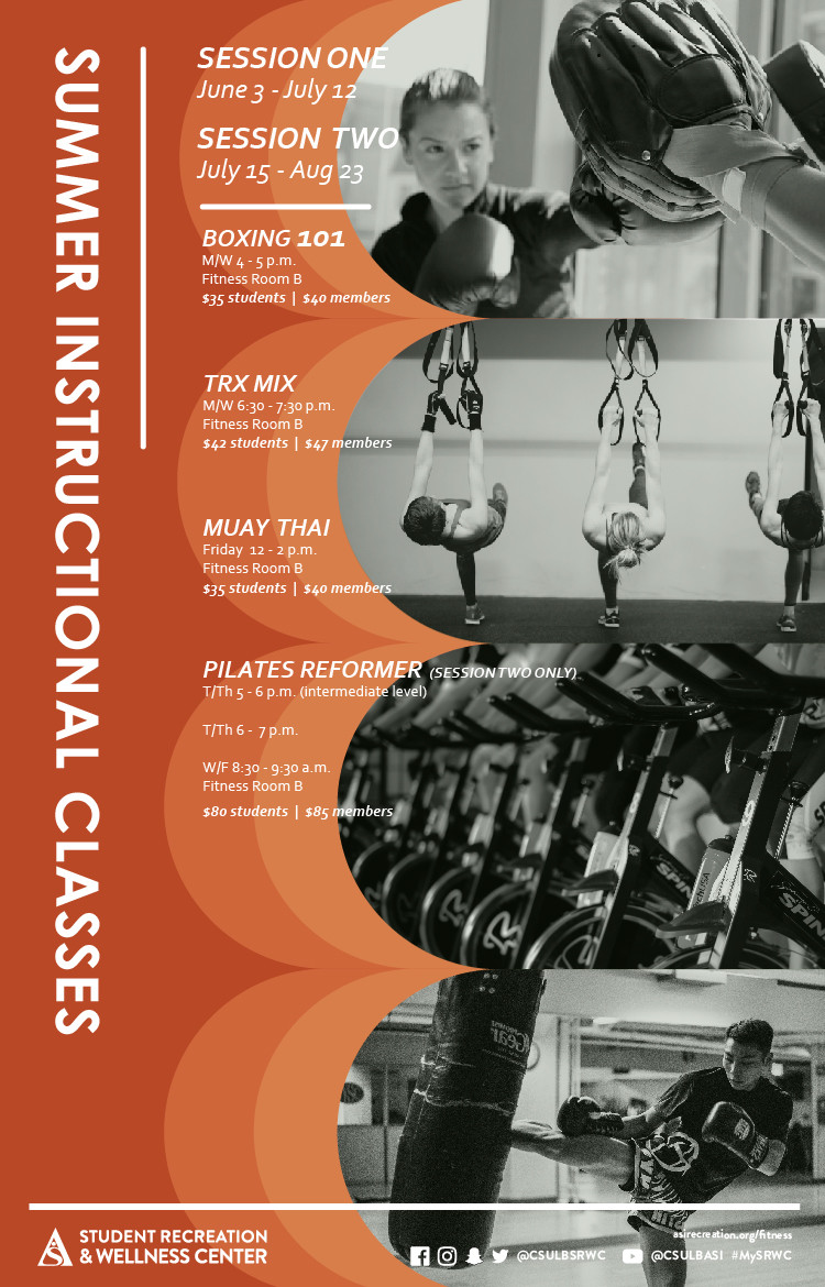 summer instructional classes poster