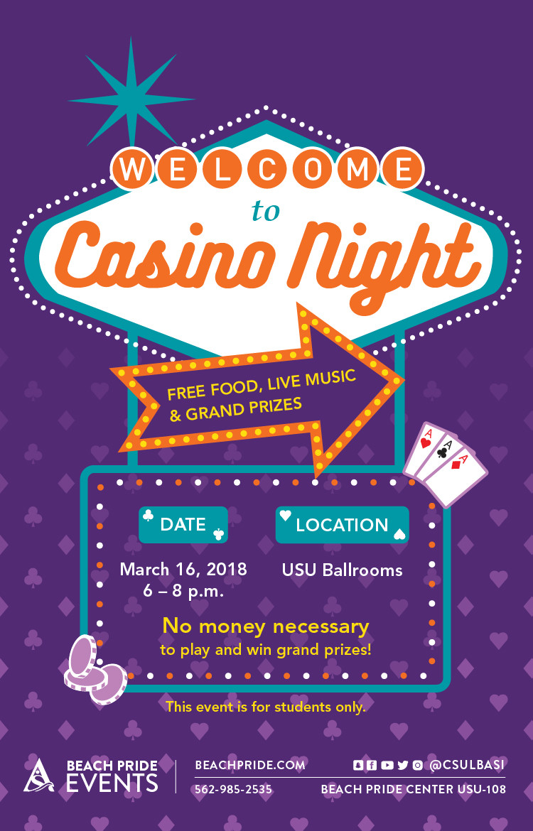 Welcome to Casino Night Poster