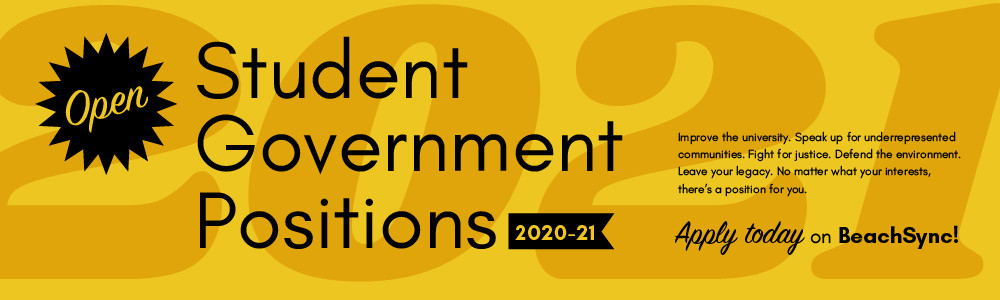 Student Government Open Positions 2020