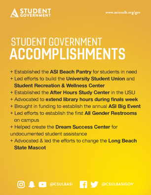 Elections 2020 Student Government accomplishments